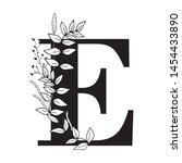 vector graphic floral alphabet  ... | Shutterstock .eps vector #1454433890