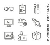devops icon set w plan  build ... | Shutterstock .eps vector #1454443760