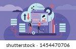 database vector illustration.... | Shutterstock .eps vector #1454470706