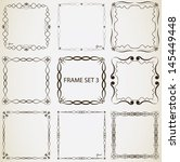 vintage frame set 3. abstract... | Shutterstock .eps vector #145449448