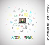 vector illustration of social... | Shutterstock .eps vector #145449490