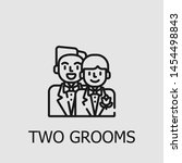 outline two grooms vector icon. ... | Shutterstock .eps vector #1454498843