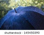rain drops falling on an... | Shutterstock . vector #145450390