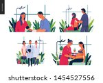 set of medical insurance... | Shutterstock .eps vector #1454527556