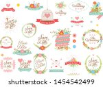 collection of wedding reminders ... | Shutterstock .eps vector #1454542499