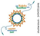 indian festival raksha bandhan...   Shutterstock .eps vector #1454551646