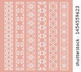vector set of line borders with ... | Shutterstock .eps vector #1454559623