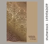 wedding invitation card with... | Shutterstock .eps vector #1454562659