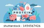 protein vector illustration.... | Shutterstock .eps vector #1454567426
