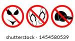 bikini  open footwear and caps... | Shutterstock .eps vector #1454580539