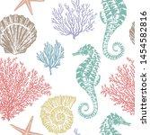 marine vector hand drawn...   Shutterstock .eps vector #1454582816