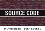 Stock photo source code text written on programming code abstract technology background of software developer 1454584553