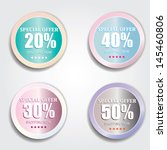 vector special offer labels set | Shutterstock .eps vector #145460806
