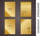 golden minimalist cover design...   Shutterstock .eps vector #1454614640
