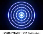 glowing neon target icon...