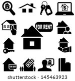 real estate icons   Shutterstock .eps vector #145463923
