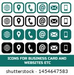 icons set for business card... | Shutterstock .eps vector #1454647583