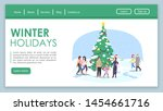 winter holidays landing page...