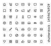miscellaneous icon set outline... | Shutterstock .eps vector #1454676929
