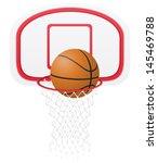 basketball basket and ball... | Shutterstock .eps vector #145469788