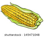 vector corn on the cob | Shutterstock .eps vector #145471048