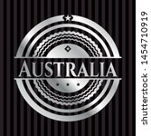 australia silvery badge or... | Shutterstock .eps vector #1454710919