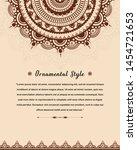 elegant wedding invitation card ... | Shutterstock .eps vector #1454721653