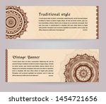 luxury wedding invitation card... | Shutterstock .eps vector #1454721656