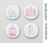volunteering app icons set....