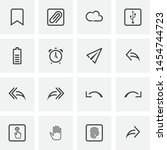 ui and ux  universal line icons ...