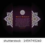 vintage wedding invitation with ... | Shutterstock .eps vector #1454745260