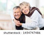 portrait of happy senior couple ... | Shutterstock . vector #1454747486