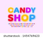 vector colorful logo candy shop ... | Shutterstock .eps vector #1454769623