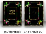 template wedding invitation... | Shutterstock .eps vector #1454783510