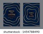modern geometric luxury wedding ... | Shutterstock .eps vector #1454788490