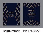 modern geometric luxury wedding ... | Shutterstock .eps vector #1454788829
