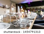 wine glasses in the foreground. ... | Shutterstock . vector #1454791313
