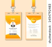 id card with lanyard set... | Shutterstock .eps vector #1454792483