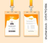 id card with lanyard set... | Shutterstock .eps vector #1454792486