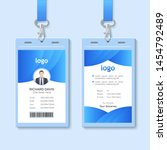 id card with lanyard set... | Shutterstock .eps vector #1454792489