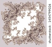 traditional decorative paisley... | Shutterstock .eps vector #1454799026