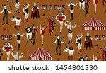 the lion tamer  the clown  the... | Shutterstock .eps vector #1454801330