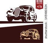 retro car | Shutterstock .eps vector #145480324