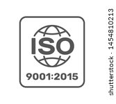 Symbol of ISO 9001:2015 certified. Vector Illustration. EPS 10