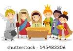 illustration of stickman kids... | Shutterstock .eps vector #145483306