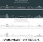 nantes single line skyline... | Shutterstock .eps vector #1454833376