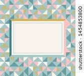 square frame in retro colors.... | Shutterstock .eps vector #1454853800