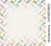 square frame in retro colors.... | Shutterstock .eps vector #1454853803