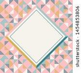 square frame in retro colors.... | Shutterstock .eps vector #1454853806