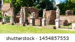 house of vestal virgins at... | Shutterstock . vector #1454857553